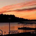 SC Retreat Lake Scene at Sunset